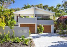I like the facade - colours, balconies Townhouse Renovation - Sunshine Beach - contemporary - exterior - brisbane - Soul Space Duplex Design, Modern House Design, Modern Tropical House, Modern Coastal, Duplex Floor Plans, Modern Farmhouse Interiors, Facade House, House Exteriors, Building Design