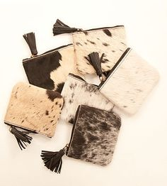 Small Change Cow Hide Purse