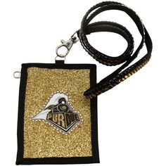 NCAA Purdue Boilermakers Beaded Lanyard with Nylon Wallet by Rico. $6.27. Going to the game or going out; keep your essentials secure with Rico Tag's Beaded Lanyard with Nylon Zippered wallet.  Double row of team color beads on lanyard with lobster claw to hold nylon wallet.  Wallet boasts officially licesned team logo with outlined team color beading.  Zippered closure.. Save 58% Off!