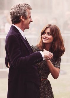 Peter Capaldi and Jenna Coleman.
