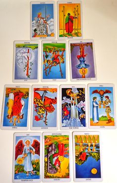 """In this week's #Tarot Circle the question, """"What do I need to know about the year head?"""" is read from the #NewYearSpread."""