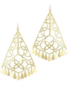 Samira Statement Earrings in Gold - Kendra Scott Island Escape preview, in stores and online April 24, 2013 at 5pm CST.
