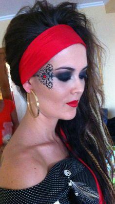 Worksheet. Look pirata rastas maquillaje pirata  Chasing Pirate  Pinterest