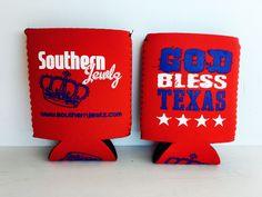God Bless Texas Koozie