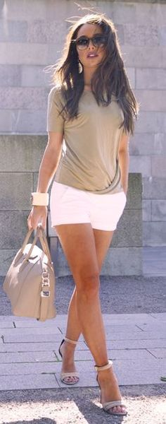 A fitted tank and cuffed shorts are great for day dates or brunch ...