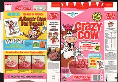 general+mills+cereal+boxes | General Mills - Crazy Cow Strawberry cereal box - Crazy Cow Pal Decal ...
