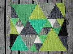 green crocheted cushion by 3sheets