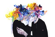 """""""intimacy on display"""" Art Print by Agnes-cecile on Society6."""