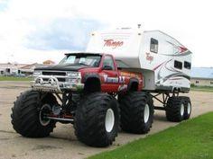 Monster Pickup Truck 5th Wheel Setup