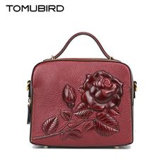 (127.20$)  Buy here - http://aizya.worlditems.win/all/product.php?id=32804986038 - Tomubird 2017 new Chinese wind embossed shoulder Messenger bag Retro national wind leather handbag High-end small square package