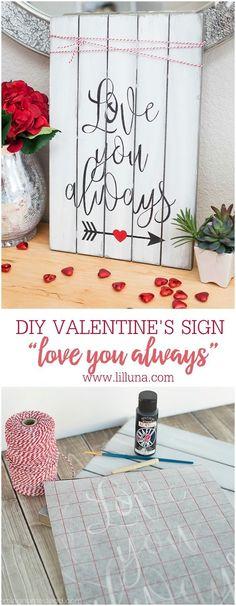 Love You Always Valentines Sign - Lil' Luna