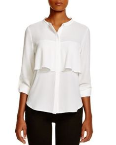 Status by Chenault Ruffled Blouse | Bloomingdale's