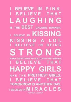 One of my favorite Audrey Hepburn quotes.