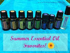 My Summer Essential Oil Must Haves www.fireflyfieldsliving.com