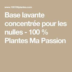 Base lavante concentrée pour les nulles - 100 % Plantes Ma Passion