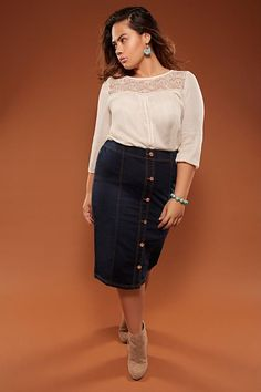 4e3f35eb28b 94 Best Skirts - Midi or mini length - Plus Size images in 2019 ...