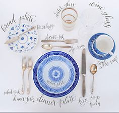 Guide to setting the table for guests.