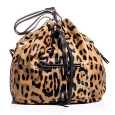 Jerome Dreyfuss/ Alain leopard-print calf hair bag