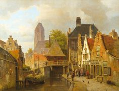 Willem Koekkoek, «View of Oudewater»
