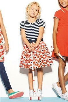 Poppy Print Bow Dress (3-16yrs)