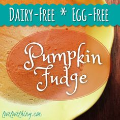 Pumpkin Fudge - Dairy & Egg Free, and GAPS-friendly! 1/2 cup pumpkin puree, either homemade or canned will work 1/3 cup coconut butter – here's a simple tutorial (where to buy coconut butter) 3 tablespoons maple syrup – You can substitute with your preferred sweetener, but it will change the texture. You may also substitute with raw honey. 1/2 teaspoon vanilla 1/4 teaspoon cinnamon pinch ground ginger 1/8 tsp sea salt
