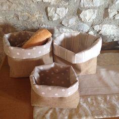 Porta pane in juta stile shabby