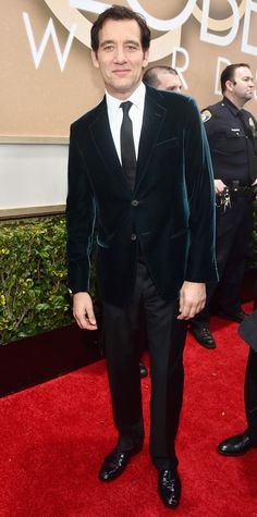 Golden Globes 2015: Red Carpet Arrivals - Clive Owen from #InStyle