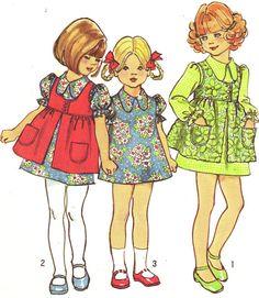 1970s Girls Dress Pattern Simplicity 5277 Puff by paneenjerez, $7.00