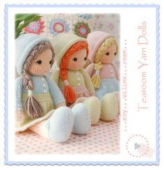 Muñequitos de hilado / PDF muñeca tejer patrón por maryjanestearoom