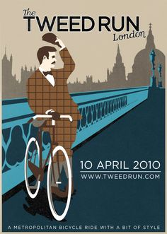 Poster for The Tweed Run London 2010 by Wayne Peach and Matt Bibby.