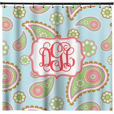 Blue Paisley Shower Curtain Personalized by RNKShops on Etsy