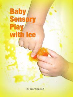 Baby Sensory Play with Ice
