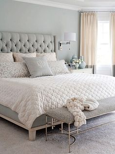 There's nothing quite like a big, comfortable bed to sink into after a long day. Complement your plush bed with soft, neutral hues throughout the room to create the master suite of your dreams.