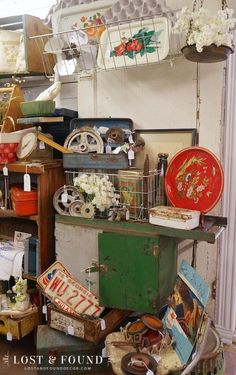 Sales have been a little slow lately in my Antique Company Mall booth space. They usually take a dip around November and start to slowly rise back up by mi booth displays the farm Restocking the Booth Flea Market Displays, Antique Store Displays, Flea Market Booth, Antique Mall Booth, Antique Booth Ideas, Antique Shops, Shop Displays, Retail Displays, Flea Markets