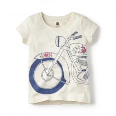 Motorcycle-Print T-Shirt for Little Girls | Tea Collection