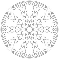 valentines mandala's to color - Google Search