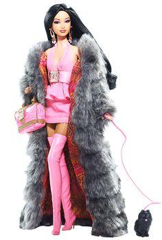 Full length faux fur coat - yes please!!  Kimora Lee Simmons Barbie®Doll | Barbie Collector