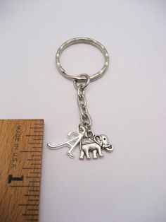Elephant Keychain Set Small Elephant Keychains Best Friends Personalized  Gifts Couples Set Mother D 140eecf9e
