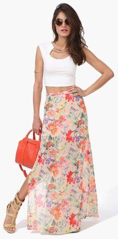 Hawaiian Punch Maxi Skirt