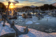 """Celebrating salmon, ice and spring to come"", in Kodiak, Alaska.  Taken by http://marionowen.wordpress.com/"