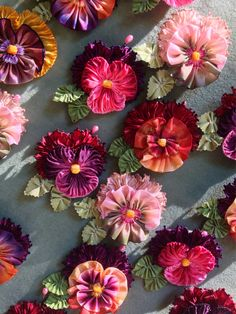 French Ribbon Pansies - these are amazing on tumblr- vintagepassmenterie
