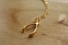 Lucky Wishbone Necklace $31.50