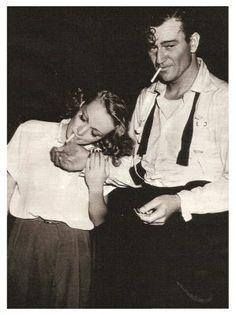 John Wayne and Marlene Dietrich