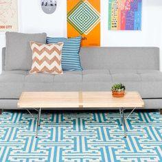 Teppich I-Beam 152x90 Blau, 110€, jetzt auf Fab.