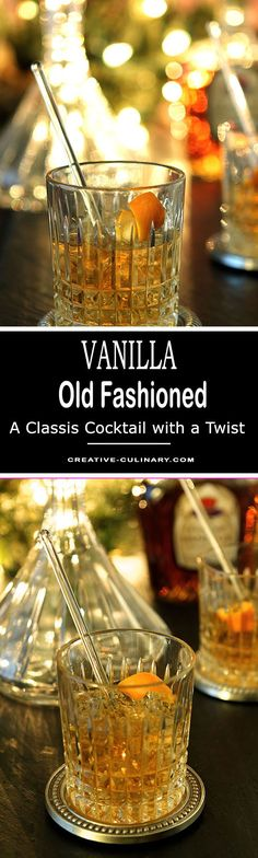A hint of vanilla in a classic makes this Vanilla Old Fashioned Cocktail a spectacular addition to your cocktail repertoire! via @creativculinary #whiskycocktails