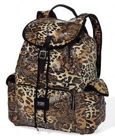 Loving this leopard print Embellished   backpack, for seeing a lot of teen girls wanting this one,