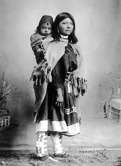 Ute mother and child. ca. 1900