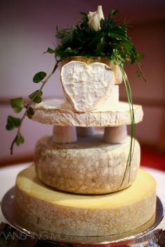 Unique cheese wedding cake- delicious idea!