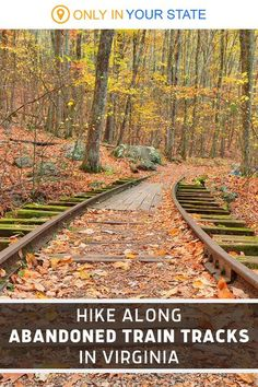 Take a hike along these abandoned railroad tracks in Virginia and you'll come across a beautiful waterfall! This is a moderate hiking trail that's suitable for most. You'll find it along the Blue Ridge Parkway. Camping Places, Places To Travel, Travel Destinations, Usa Places To Visit, Places To See, Iceland Landscape, Old Country Churches, Waterfall Hikes, Virginia Is For Lovers