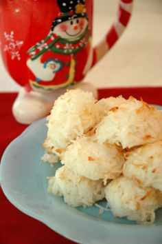 Coconut cookies, holiday cookies